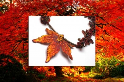 Japanese Maple: Autumn Necklace - Jewelry Creations
