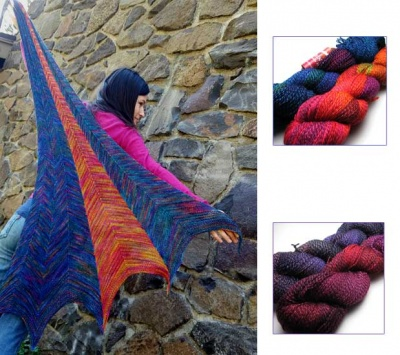 Kaersta Shawl/ Twizzlefoot/ 4 Color Choices