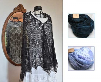 Kalliope's Shawl/ Beaded Kits/ Two Color Choices
