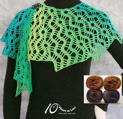 Lace Labyrinth/ A Crocheted Shawl