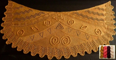 Lady in Gold Shawl: Kits with Bead Option