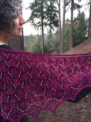 Laurien/ Pattern by Sivia/ Beaded Shawl - Shawls/Stoles