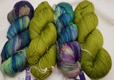 Indonesia with Lettuce (one skein of each colorway makes up one kit)