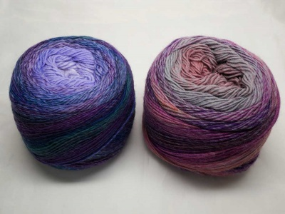 Denim Floral on the right; Lilac Lavenders on the left.  Your kit will include one of each.