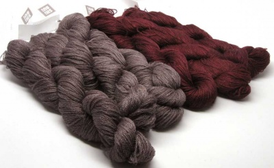 Shibui: Linen/ Mineral and Bordeaux