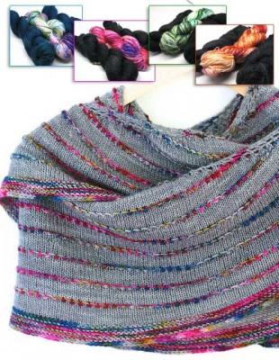 Loop or Dot Shawl/ 4 Color Choices