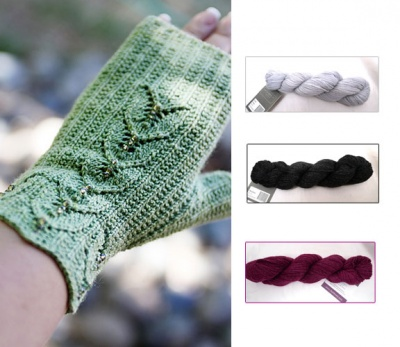 Maia Fingerless Mitts: Beaded Kits