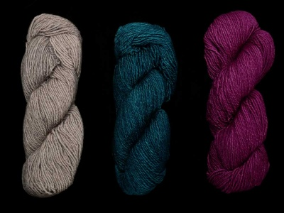 Here are the colorways:  Pearl, Teal Feather, Hollyhock.
