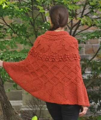 Celtic Maple Cape/ Pattern/ Celtic Botanical Knits - Shawls/Stoles
