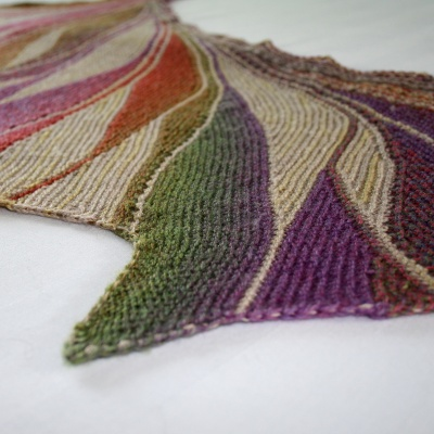 These photos show some aspects of Maylin's original Rigoles shawls.