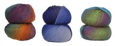 From left to right:  Equinox, Periwinkle Shadows, and then Jungle.