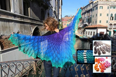 Miracoli:  Kits with Beads: TUS Gradiance Yarns