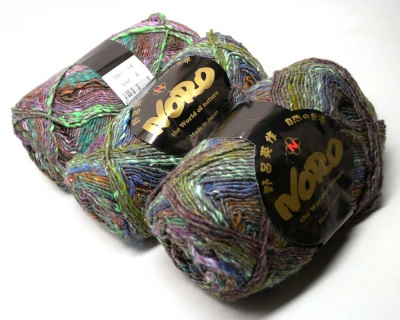Orphan Skeins:  Noro Mirai: Green-Copper-Violet