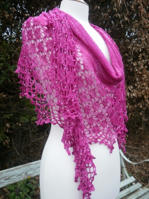 Quite Continental/ A New Beaded Shawl Pattern from Boo Knits - Shawls/Stoles