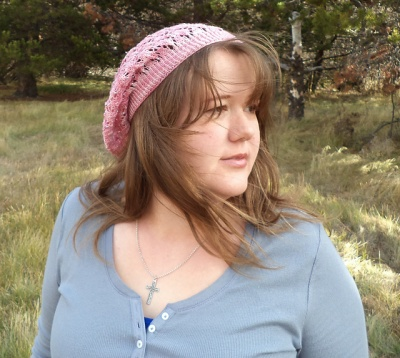 Rhosyn Slouchy Hat/ Beads and Lace!/ Pattern by Abbey -