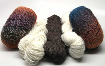 Kit B, showing two skeins of Abundance (again, one per kit)