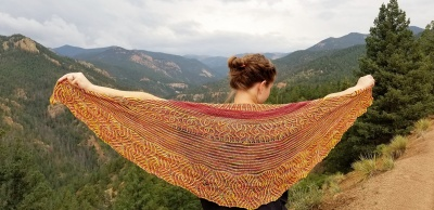 Ashleigh's original shawl