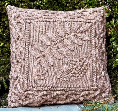 Celtic Rowan Pillow/ Pattern/ Celtic Botanical Knits - Whimseys