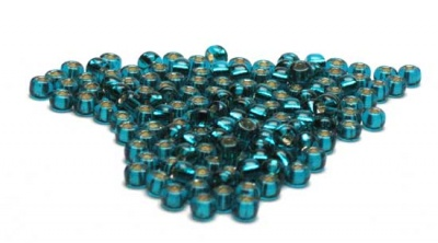 Silver Lined Teal: Miyuki 6/0 Seed Beads - Size 6/0