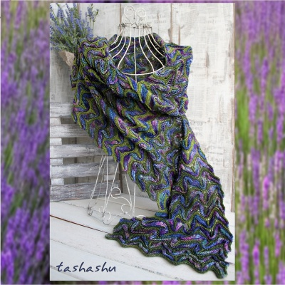 Scarf Lavender: Kits (in Original Colorways)