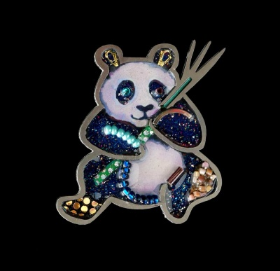 Handcrafted Pins: Panda -