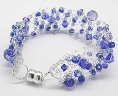 Birthstone Bracelet:  September Sapphire - Jewelry Creations