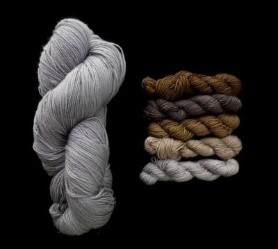 Kit A: Fairy Circle Mini-Skeins + Silver Contrast