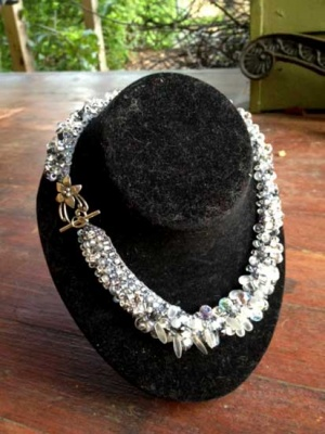 Moonrise Neckpiece/ Custom Variation/ MoonFlower at Moonrise - Jewelry Creations