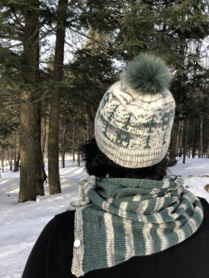The Snow Globe Hat and Cowl