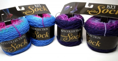 KFI: Painted Sock: 2 Colorways - Fingering/Sock weight