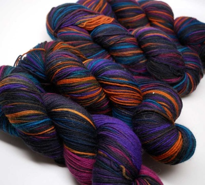 Orphan Skeins:  Solar Eclipse in Crazy Foot