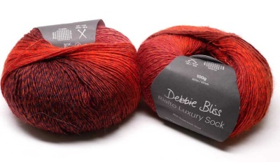 Orphan Skeins:  Splendour in Debbie Bliss Rialto Luxury Sock