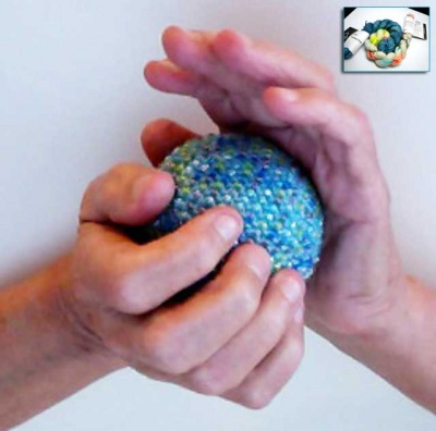 Beaded Stress Ball:  Kits in Unicorn Tails -