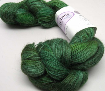 The yarn is the Suri Alpaca in Shire.