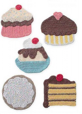 Sweet Treats Potholders/ Crochet Pattern - Whimseys