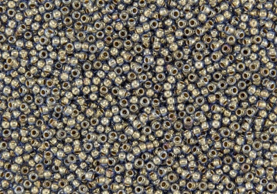 Gold Lined Lt Montana Blue: Toho 6/0 Seed Beads -