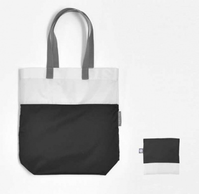 Flip & Tumble: Tote Bag: Black/White -
