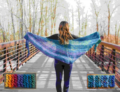 Transitions Shawl Kits from Mountain Colors