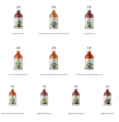 Tree Syrups: A Variety of Sample Bottles