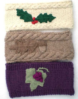 Trio of Headbands/ Pattern/ Celtic Botanical Knits - Whimseys