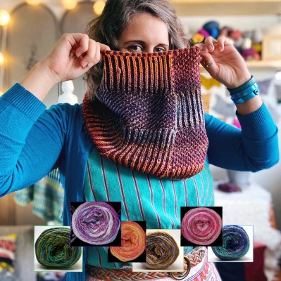Geshi for Textural Cowl: Choice of Colorways (one at a time) -