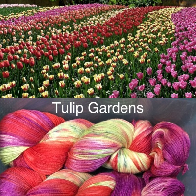 ArtYarns Inspiration Club:  March: Tulip Gardens - Fingering/Sock weight