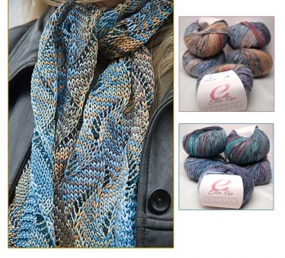 Undulating Wave Scarf/ Beaded Kits