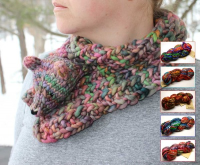 Ursula, The Bear Hug Cowl:  Kits - Worsted Weight and Up
