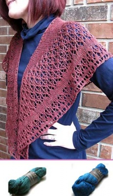 Veritas/ Beaded Shawl Kit/ Two Color Choices