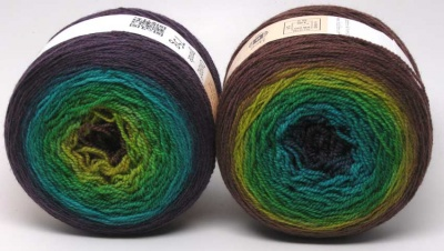 Vertigo -- two cakes shown, same colorway.