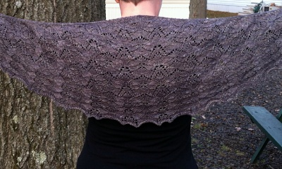 Winged Samara Shawl/ Pattern by Left Side Knits - Shawls/ Stoles