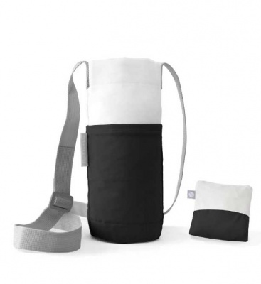 Flip & Tumble: Water Bottle & Phone Bag: Black/ White