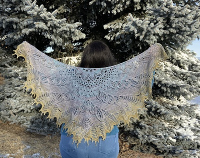 This is knit in Big Sur Twilight by Christine (aka