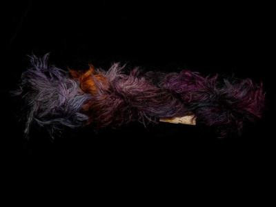 Orphan Skeins: Mountain Colors Wooly Feathers: Blackbird